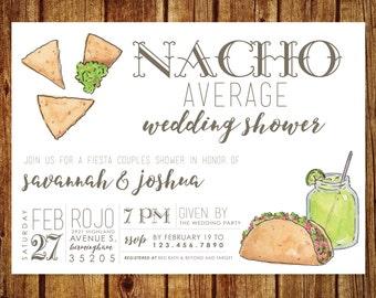 Nacho Average Wedding Shower Invitation - Fiesta Wedding Shower