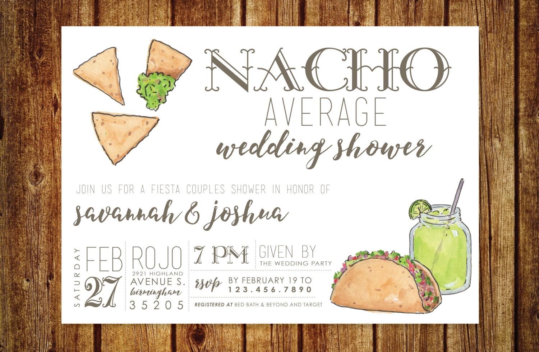 Wedding Shower Invitation: Nacho Average Wedding Shower Invitation Fiesta Wedding