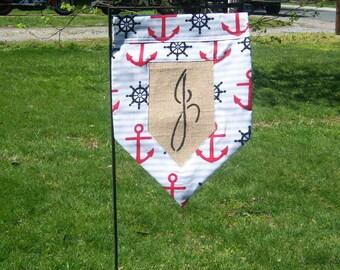 Nautical Garden Flag