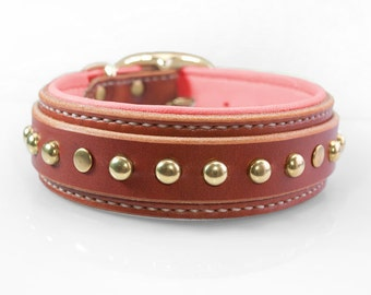 Hand Stitched Dog Collar Collection by dieselDOGwear Custom Dog Collar, Pit Bull Dog Collar for Large Dogs, Padded Leather Dog Collar