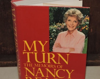 Vintage Book - Nancy Reagan - MYTURN...The Memoirs of Nancy Reagan with William Novak - 1989 - First Edition - Excellent Condition Red Book