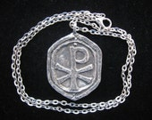 Handmade Chi Rho Cross on Chain
