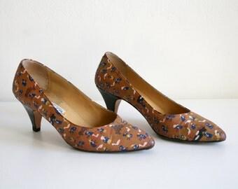 Small Print Italian Heels