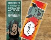 Saga Inspirational Quote Laminated Bookmark