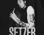 Setzer - Rockabilly Brian Setzer Stray Cats inspired tee back patch