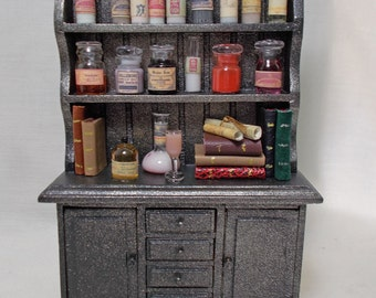 Dolls house Miniature filled poison / Apothecary Display