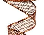 1.5 Inch Copper Glitter Hexagon Glitter Mesh RL183032, Deco Mesh Supplies