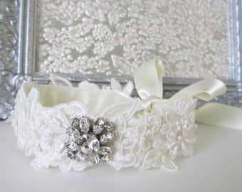 Wedding Headband, Bridal Headpiece, Bridal Headband, Bridal Hair, Ivory Headband, Bridal Accessories