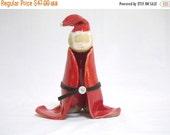 ON SALE Red Christmas Santa Figure
