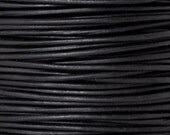 Leather-1.5mm Round Cord-Soft-Natural Black-10 Meter Spool