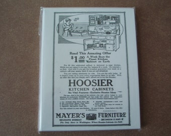 Hoosier Cabinet Note Cards 8 pack with envelopes magazine ad
