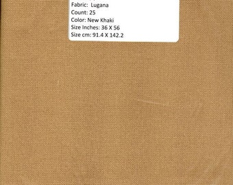 GT117 - Lugana, 25 CountNew Khaki, 36 X 56 inches or 91 X 142 cm, Cut Fabric Collection