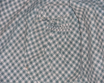 Vintage Gingham Check Apron