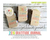 Gratitude Journal . 365 Things I Am Grateful For . Notebook Diary . Everyday Blessings Daily Document Thankful Thankfulness