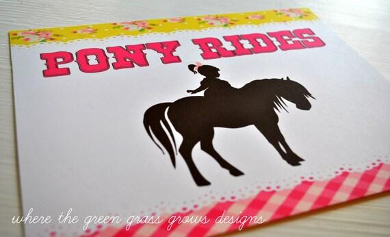 Pony 8x10 Signs