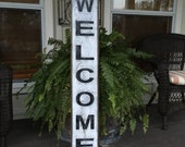 Welcome Sign,Fixer Upper Signs,41x7.25 Rustic Wood Signs, Farmhouse Signs, Wall Décor