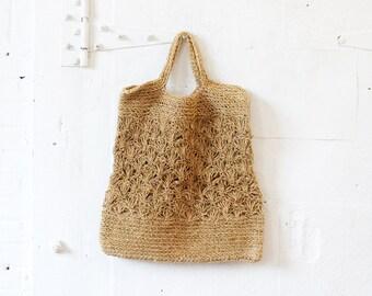 Straw Beach Tote • Beach Tote Bag • 70s Bag • Straw Market Tote • Straw Tote • Straw Market Bag • Boho Tote Bag • Straw Beach Bag    B493
