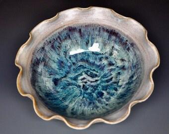 Handmade Ceramic Salad Bowl Stoneware Pottery Serving Bowl A