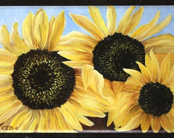 Dutch Sunflowers - Original Oil Painting FREE SHIPPING