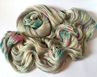 Cashmere Silk Lace Yarn.  Lost Lands