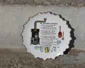 vintage kitchen prayer wall plaque farmhouse country grannie chic