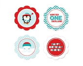 PRINTABLE Winter Onederland Party Circles