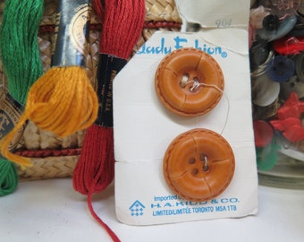 Vintage Leather Look Buttons