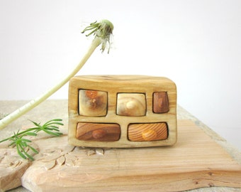 Miniature village drawer, wood carving, Earrings box, Jewelry box, Wood Hand Carved, Rustic home decoration, Wood sculpture