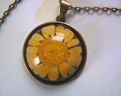 Real Flower Pendant Yellow