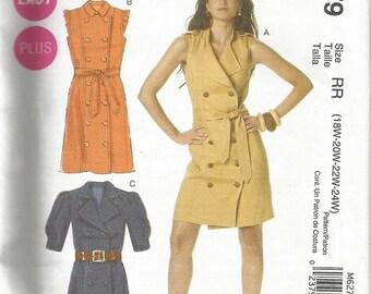 McCall's 6279  Plus Size Dress Pattern SZ 18w-24W