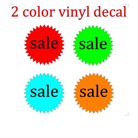 Sale circle sign / discount sale / vinyl sign / sale sign / percent sale / store sale / SALE % signage / vinyl letters