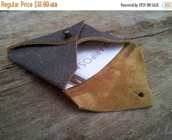25% OFF, Minimal Leather Wallet for men, Slim Card Holder, business card holder, Leather Card Holder, thin Wallet, Leather men wallet in bro