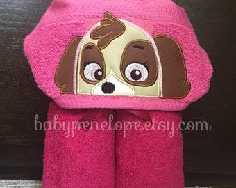 Paw Patrol - Skye-  Hooded Towel