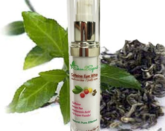 CAFFEINE Eye Cream - For Puffy Eyes & Dark Circles -  All Natural - Organic - NO Synthetics