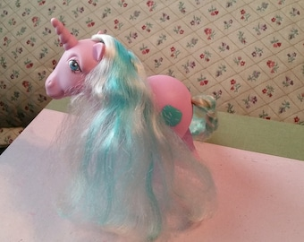 Vintage My Little Pony Sugar Sweet Unicorn Purple Pink with White and Blue Hair