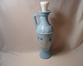 Special Collectible Jim Beam Blue Glass Greek Style Glass Decanter or Bottle Sochrates