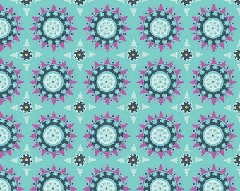 Lulabelle Medallion in Mint Fabric by Riley Blake - Half Yard
