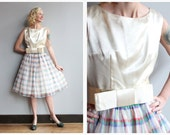 1950s Dress // River Forest Holiday Dress // vintage 50s party dress