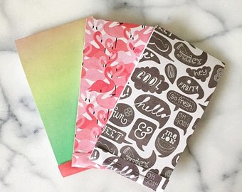 Summer Fun + Flamingo Notepads Set