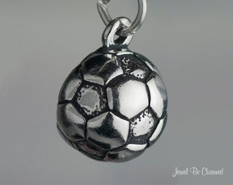 Sterling Silver Soccer Ball Charm Sports Equipment Team Player .925
