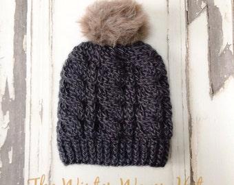 CROCHET PATTERN, Winter Woven Crochet Hat Pattern, Crochet Hat Pattern, Crochet Cables, Craft Supply, DIY Hat Pattern