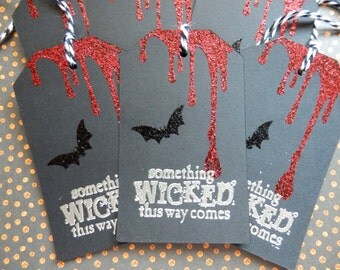 Halloween Tags - Something Wicked This Way Comes - Gift/ Hang Tags (6)