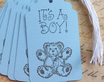 Baby Bear Tags - Baby Boy Tags -  It's a BOY tags (8)