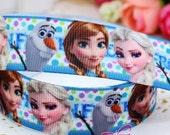 "CLEARANCE SALE *FREE Shipping ~3 yards x  7/8"" Frozen Grosgrain Ribbon Disney Frozen Ribbon, Sewing Scrapbooking Hair Bow"