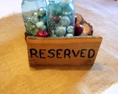 Reserved Table Wooden Wedding Sign