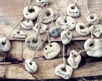 Fortune Rocks - One beach rock with wording for you - Lucky Rock - Lucky Stone - Fortune Stone - Beach Lovers - Mediterranean Israel Sea