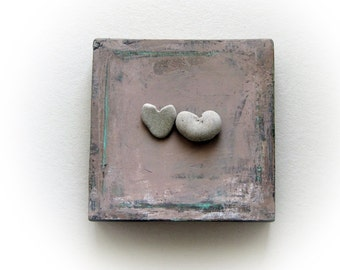 Wedding gift - wedding gift ideas - Heart rock - Unique Gift for Fiancee - Engagement gift - Anniversary gift - for couple - for bride - S81