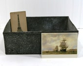 Vintage Rustic Metal Box