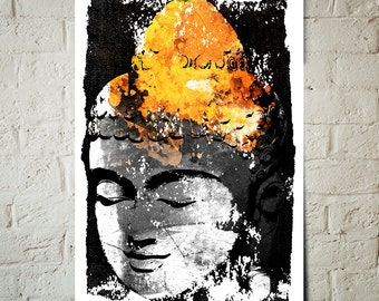 Buddha - Zen Meditation - Buddha Decor, Beach Cottage Decor, Buddha Art, Boho Art, Art Print, Buddha Wall art, Poster, Buddha Print