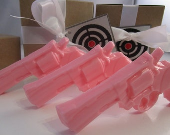 Gun Soap -  stocking stuffer - pink gun soap
